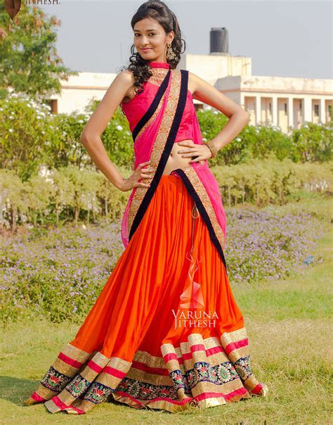 Simple Lehenga Designs   Varuna Jithesh, Hyderabad, India.