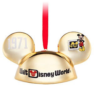 ''40 Years of Magic'' Walt Disney World Ear Hat Ornament