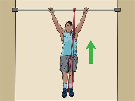 ways  perform assisted pull ups wikihow