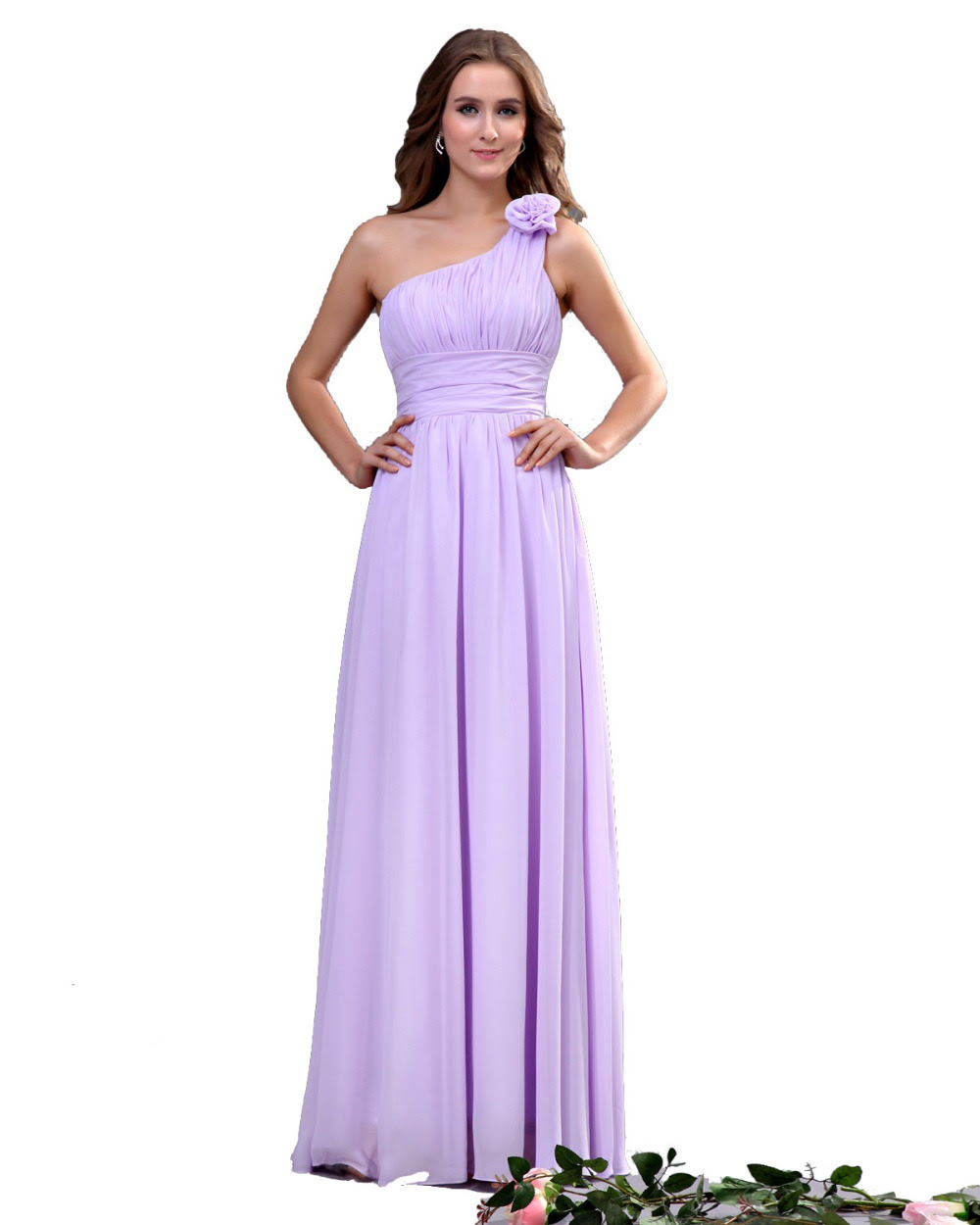 Hot Selling long Bridesmaid Dress 2015 One shoulder A line ...