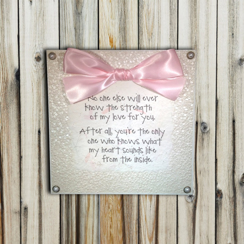 Mom and Baby Love/Bond Quote Plaque 8x8 by lovingLeighYours