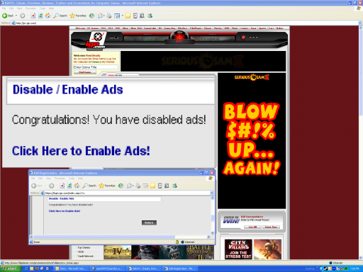 Ads don't look disabled to me...