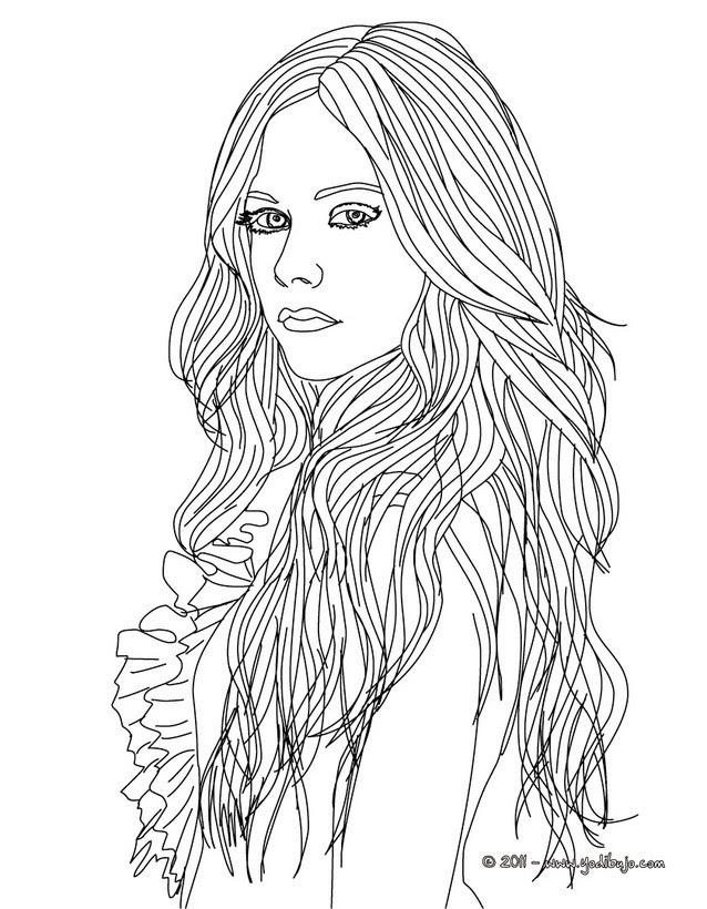 Dibujos De Avril Lavigne Para Colorear Imprimir Y Pintar 10