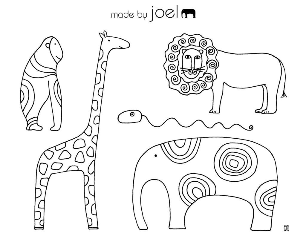 1 Sınıf Boyama Kağıtları Etkinlikleri Hayvanlar Alemi