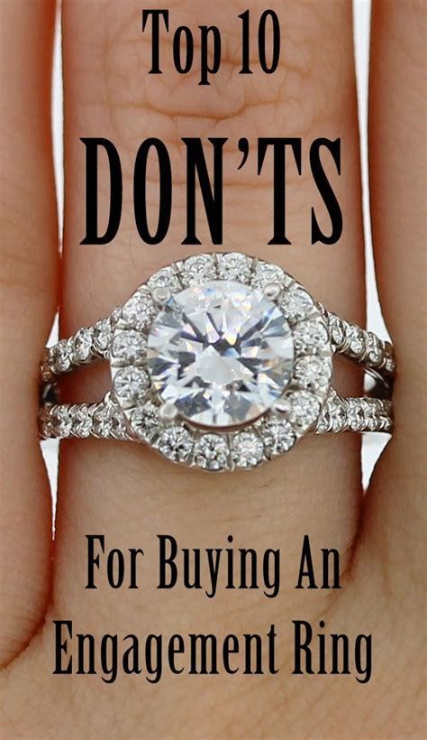 Top 10 DON?TS for Buying an Engagement Ring   Engagement
