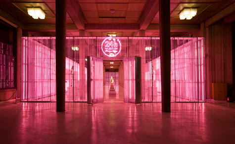 The Palais d'Iena in Paris which has been transformed into The Prada 24 Hours Museum
