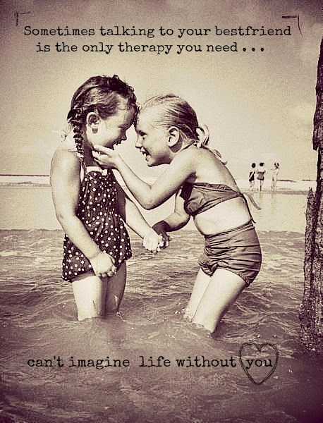 Two Girls In Water Best Friend Quote Meme