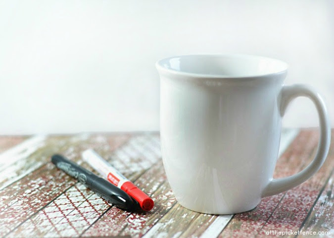 DIY Love Mug from At The Picket Fence