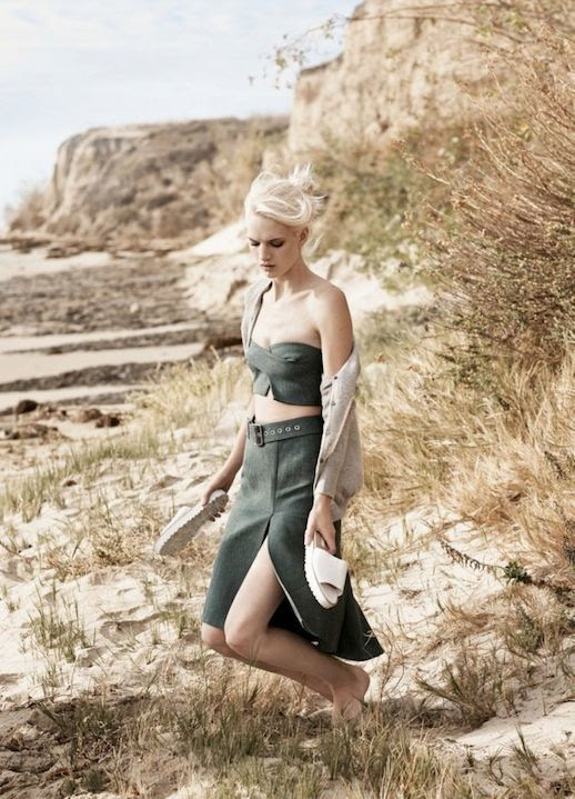 Le Fashion Blog Minimal Chic Summer Style Vogue UK Editorial Santa Barbara Andreea Diaconu Ashleigh Good By Josh Olins Green Jil Sander Canvas Crop Top Matching Skirt White Slide Sandals 11 photo Le-Fashion-Blog-Minimal-Chic-Summer-Style-Vogue-UK-Editorial-Santa-Barbara-Andreea-Diaconu-Ashleigh-Good-By-Josh-Olins-Canvas-Crop-Top-S.jpg