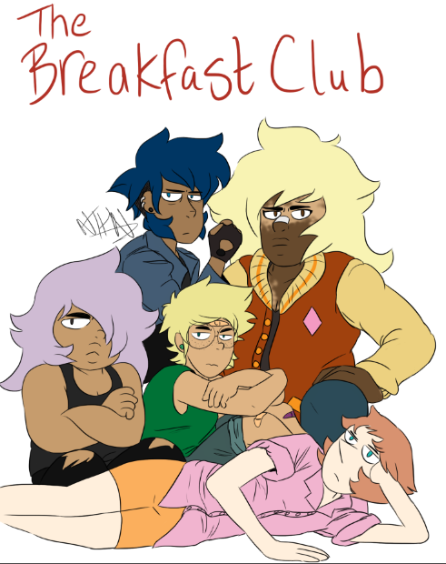 Human!AU Gems/The Breakfast Club crossover (sorry its such low quality, tumblr made me have to make the file size smaller)
