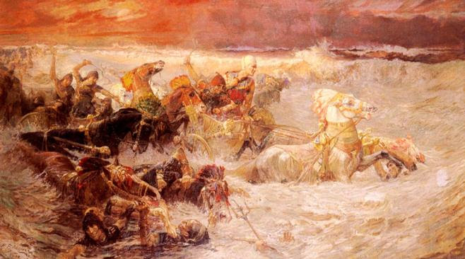 https://upload.wikimedia.org/wikipedia/commons/9/97/Bridgman_Pharaoh%27s_Army_Engulfed_by_the_Red_Sea.jpg