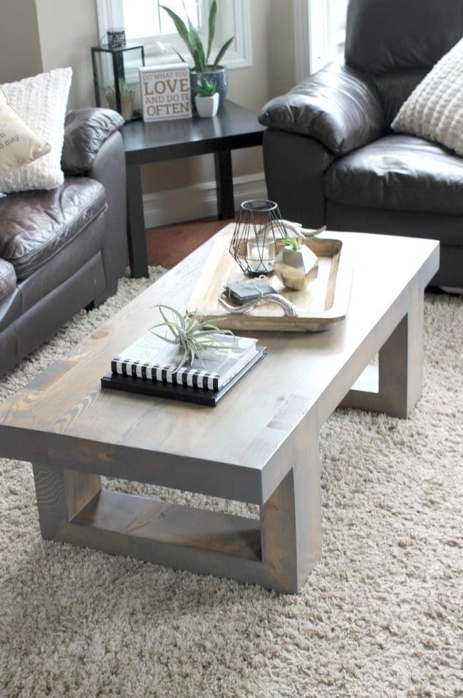 Modern Coffee Table Build Plans - Love Create Celebrate