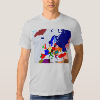 Map of Europe T Shirts