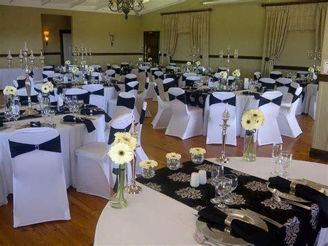 [2] Wedding Decor Black Embossed   Simple Traditional