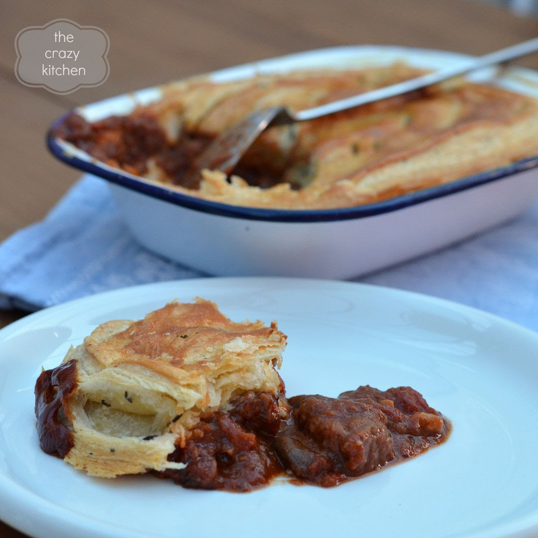 puff pastry chilli beef pie