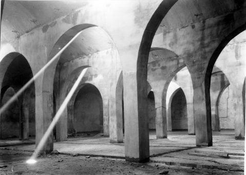 Depósitos del Cerro de los Palos de Toledo fotografiados antes de recibir el agua del Torcón en 1948