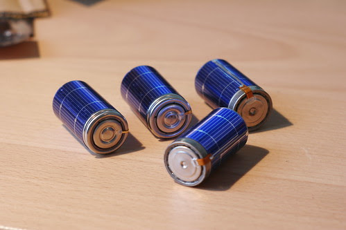 Completed Solar Rechargeable Batteries