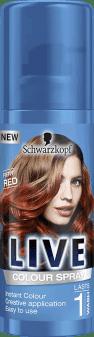Schwarzkopf, Live Color, makijaż do włosów w sprayu, Fiery Red, 100 ml, nr kat. 272535