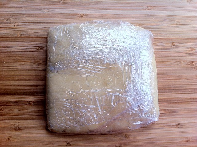 Pastry Dough Wrapped in Plastic Wrap