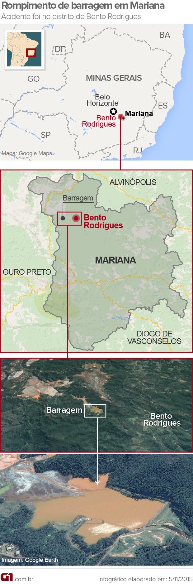 Arte Barragem Bento Rodrigues atualiza 19h40 (Foto: Editoria de Arte/G1)