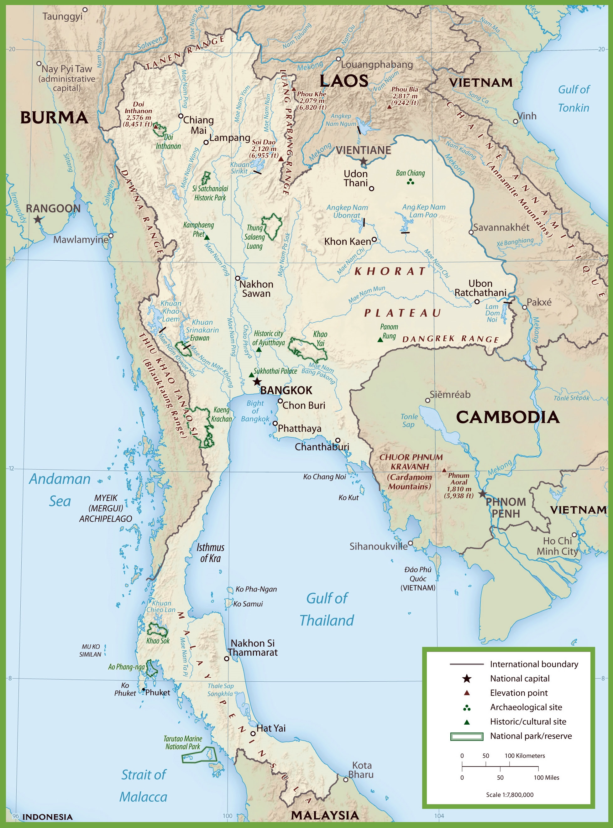Map Of Thailand National Parks Maps Of The World