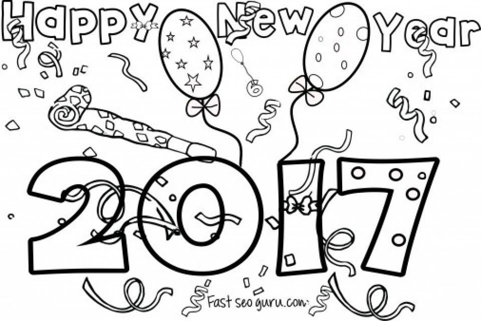 20+ Free Printable New Years Coloring Pages ...