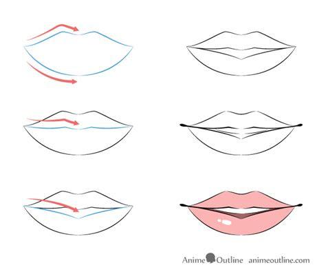 draw anime lips tutorial animeoutline