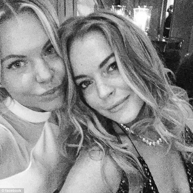 Previously close: Despite her harsh words, it seems that Lindsay and Dash have been friends for some time with the actress popping up on the designer's social media (pictured this time last year) and the star has also worn some of her designs