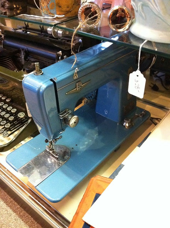 Blue Sewing Machine