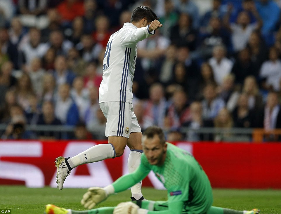Alvaro Morata was another substitute to get his name on the scoresheet when he put in Real's fifth with six minutes left