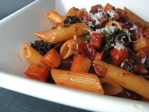 Penne with Skillet-Roasted Root Vegetables