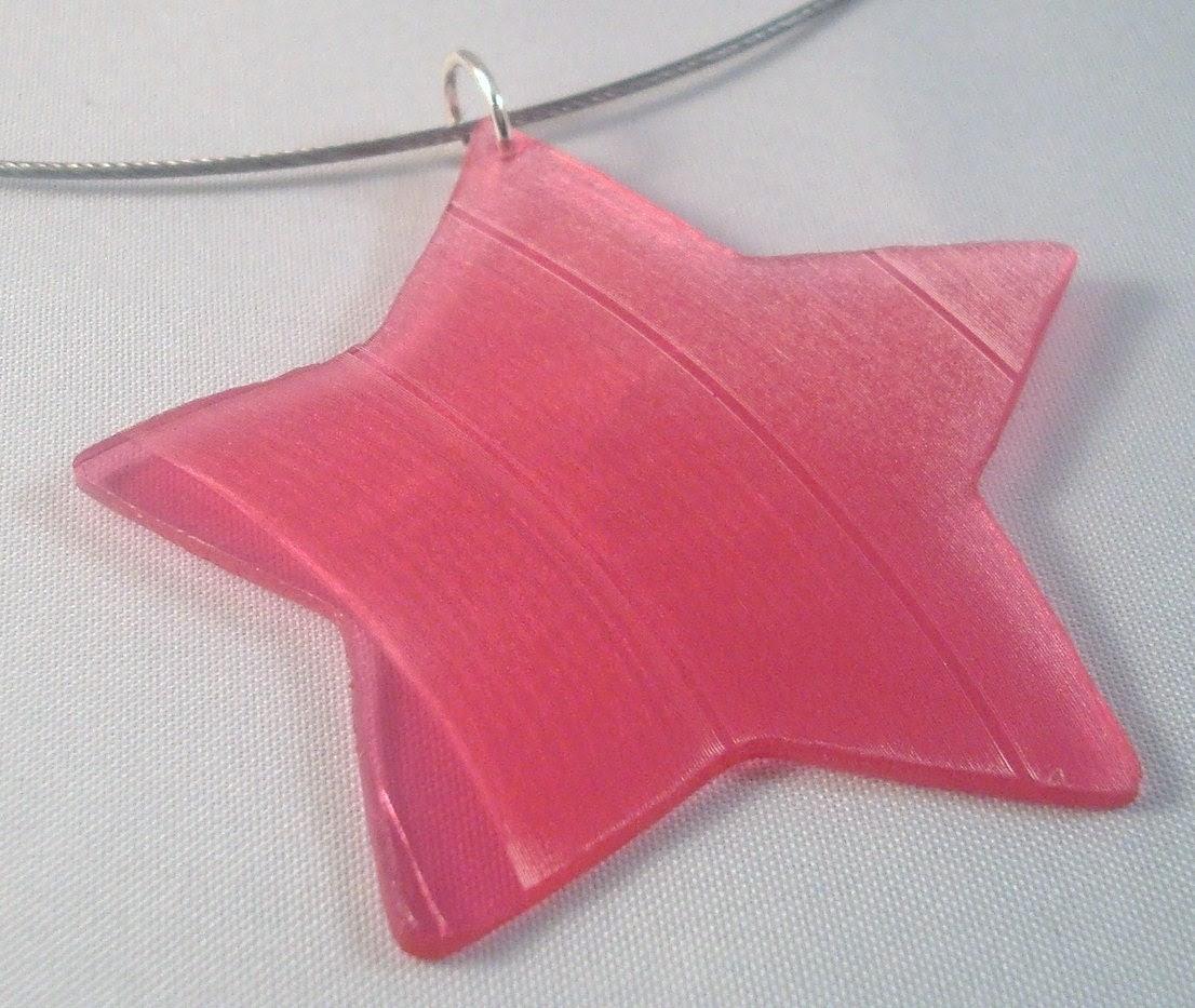 Pink Rock Star Record Vinyl Necklace