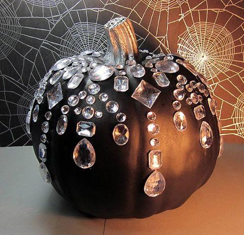 Diamonds are a girls best friend! Even on a pumpkin!