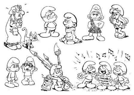 cizgi film karakterleri boyama sayfalari