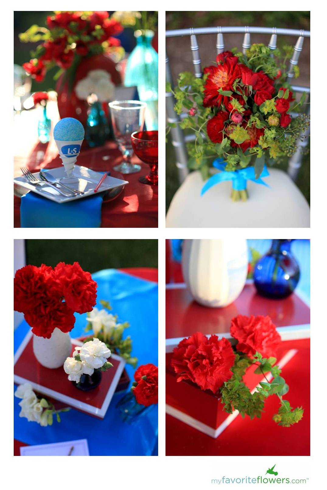 Red White And Blue Summer Garden Wedding Inspiration Southern