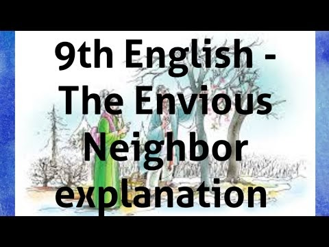 9th English The Envious Neighbor explanation in Tamil Kalvi TV