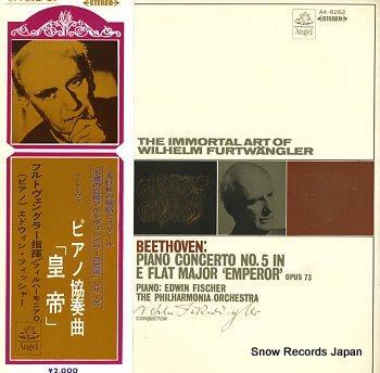 FISCHER, EDWIN beethoven; piano concerto no.5