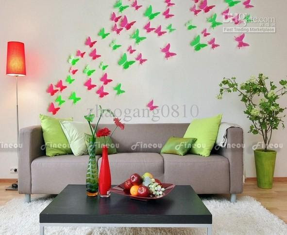 Wholesale 3D DIY Wall Sticker Stickers Butterfly Home Decor Room ...