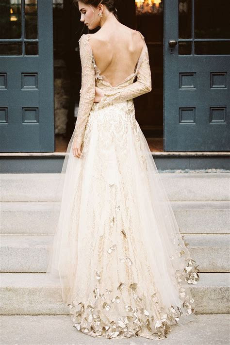 Pin by Grace Braley on Wedding   Wedding dresses, Gold
