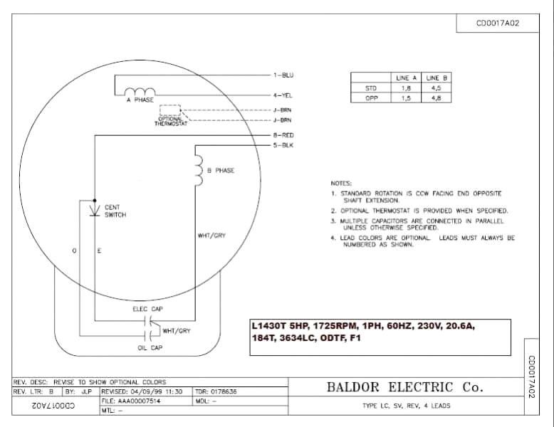 Madcomics Baldor Single Phase Motor, Baldor Motor Wiring Diagrams Single Phase