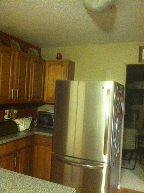 What to put above refrigerator
