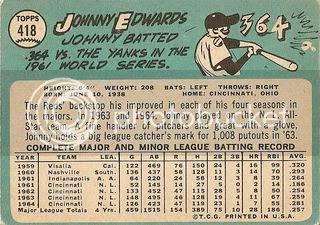 #418 Johnny Edwards (back)