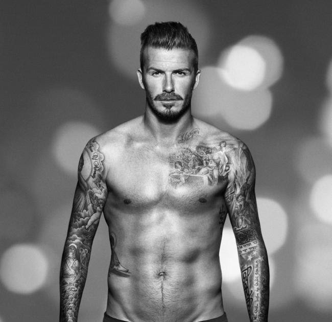 The Men Of Hollywood: David Beckham Six Pack Abs