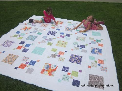 Helpers turned models (Gigantor quilt)