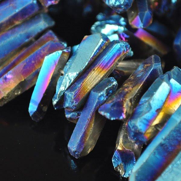 s34786 Stone Beads -  Spike - Iris Quartz (1)