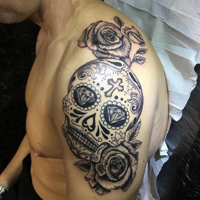 125 Best Sugar Skull Tattoo Designs Meaning 2019