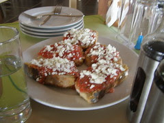 dakos made with home-made bread