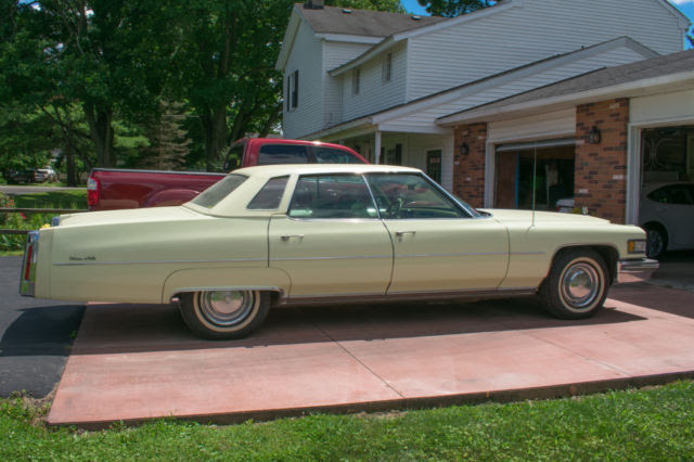 76 Cadillac Sedan DeVille Clean and Sharp Very Low Miles ...