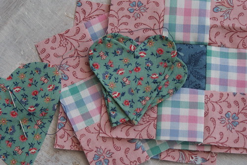 hearts and nine patch
