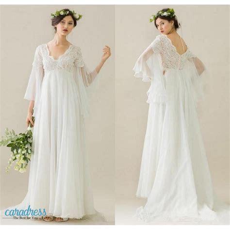 Elegant Boho Maternity Wedding Dresses 2017 V Neck Long